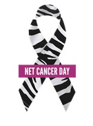 Net Cancer Day ribbon white